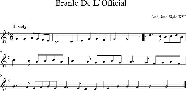 Descubriendo la Música. Partituras para Flauta Dulce o de Pico.: Branle de…