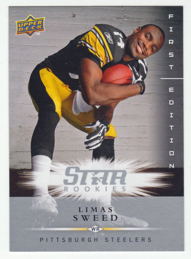 Limas Sweed RC # 220 - 2008 Upper Deck First Edition Football NFL Rookie