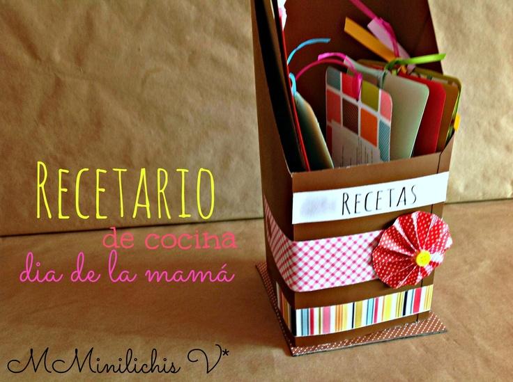 Recetario para el dia de la mama tutorial