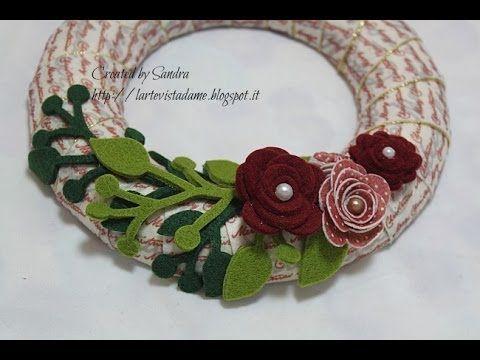 Ghirlanda natalizia fai da te: Tutorial - Christmas wreath - Natale fai ...