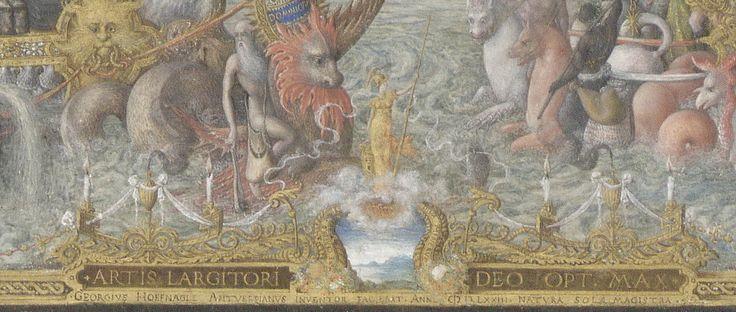 """Minerve et sa """"chouette"""" : Joris Hoefnagel, """"Vue de Séville"""", 1573, Bibliothèque Royale Albert Ier, Cabinet des Estampes,  Bruxelles LA MOITIÉ INFÉRIEURE (suite). Dans la large moitié inférieure de la miniature, Hoefnagel a peint autour de Minerve une somptueuse allégorie dans laquelle le vaisseau du Nouveau Monde, à gauche, arrive dans toute sa luxuriance  à la rencontre du vaisseau du Commerce Espagnol, à droite. La scène est si colorée, si vivante qu'on croit entendre  les Sauvages  des…"""