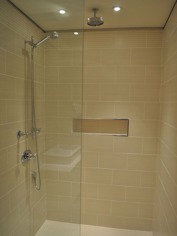 Tile showers without doors picture of shower with glass for Showers without glass