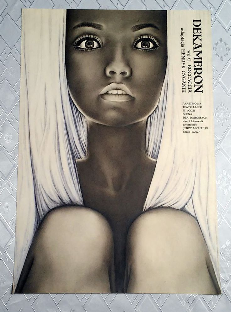 ** THE DECAMERON ** 1SH Original Polish Theater Poster