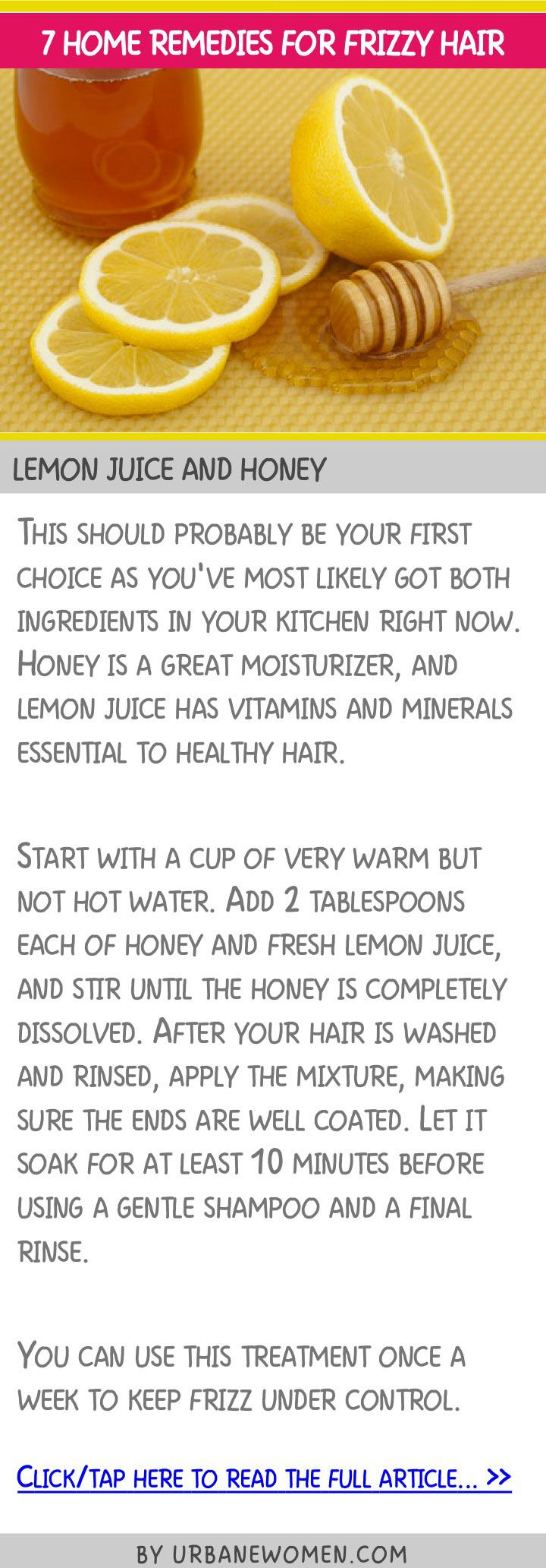7 home remedies for frizzy hair - Lemon juice and honey