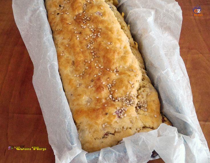 PLUMCAKE SALATO IN 5 MINUTI,una variante golosa del classico plumcake dolce, un pane soffice e gustoso insaporito da prosciutto cotto a dadini, pancetta ...