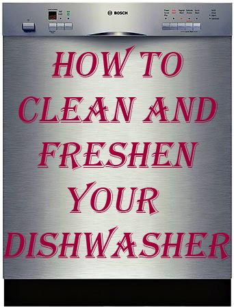 how to clean your dishwasher with vinegar and bicarb