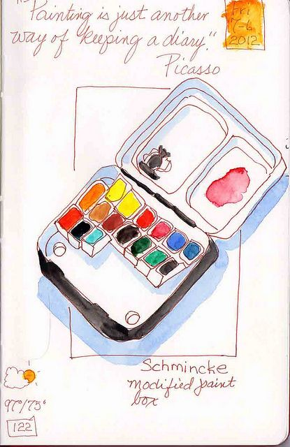 new altoids paint travel kit idea.  do bottom same as other, but put mix pallet in top! one tin to travel with!