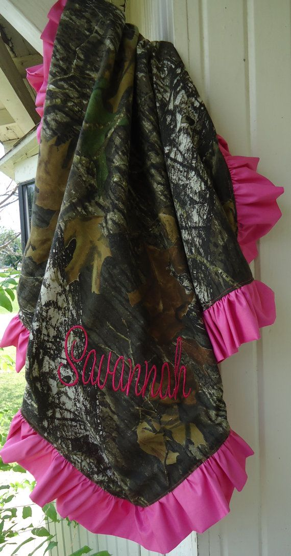 Hot Pink Mossy Oak Baby Blanket by jennirolli5 on Etsy, $35.00