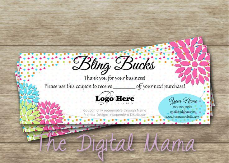 The 286 best thedigitalmama images on pinterest diy printing premier designs jewelry bling bucks coupon premier designs personalized coupon premier designs jewelry colourmoves