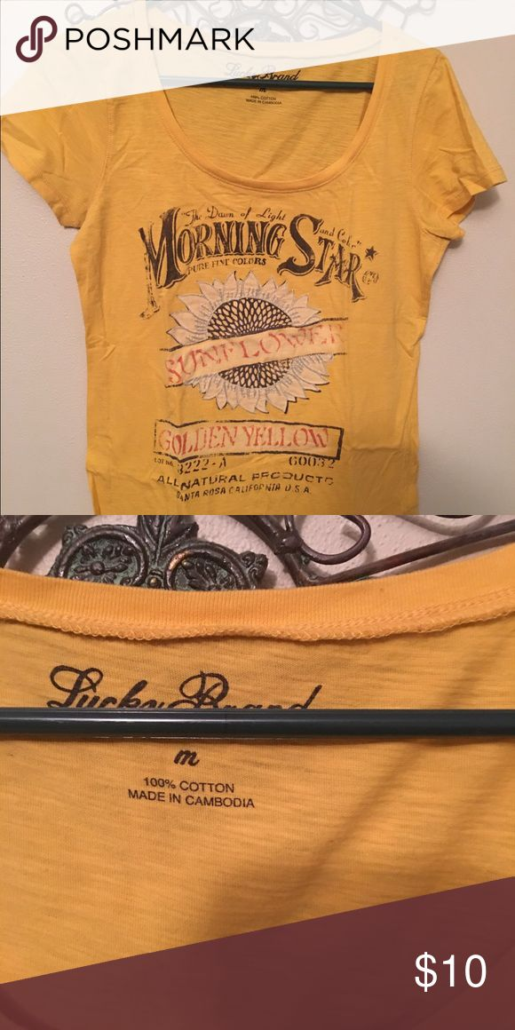 Lucky brand tee Lucky brand sunflower scoop neck tee. Lucky Brand Tops Tees - Short Sleeve