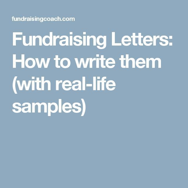 Fundraising Letters: How to write them (with real-life samples)