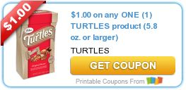 Tri Cities On A Dime: SAVE $1.00 ON TURTLES PRODUCT 5.8 OZ OR LARGER