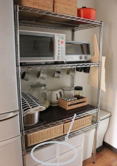 スチールラック キッチン 収納 アイデア ~ キッチン : Life Co.