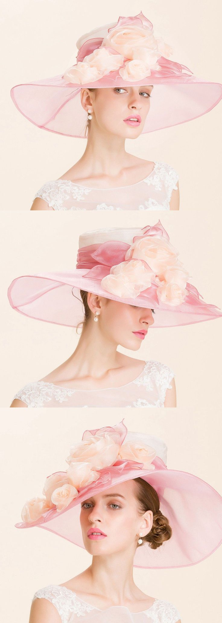 Fashion Womens Kentucky Derby Wedding Royal Ascot Church Wide Brim Dress Sun Hat. Ypu can't go wrong with a big floppy floral hat for your Kentucky Derby outfits, and Churchill downs encourage pastels, so this could be the perfect hat. Kentucky Derby Hat ideas. Outfit inspiration. Mother of the Bride, spring wedding. #kentuckyderby #derbyhats #bighats #hatsfothederby #kentuckyderbyoutfits #motherofthebride #affiliatelink #weddings #fashion
