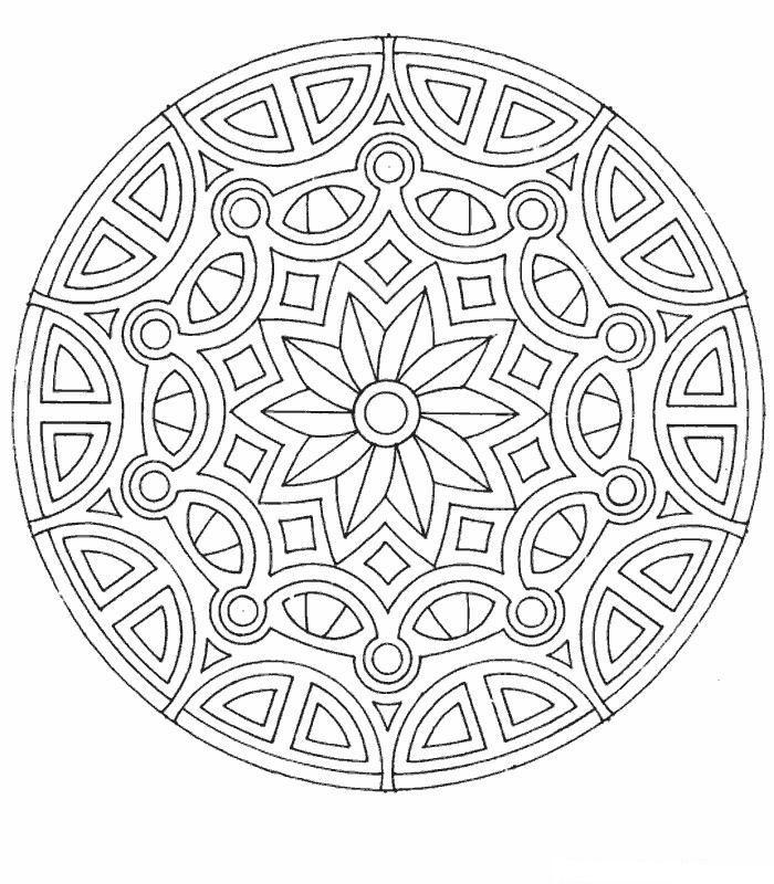 coloring page Mandala - Mandala