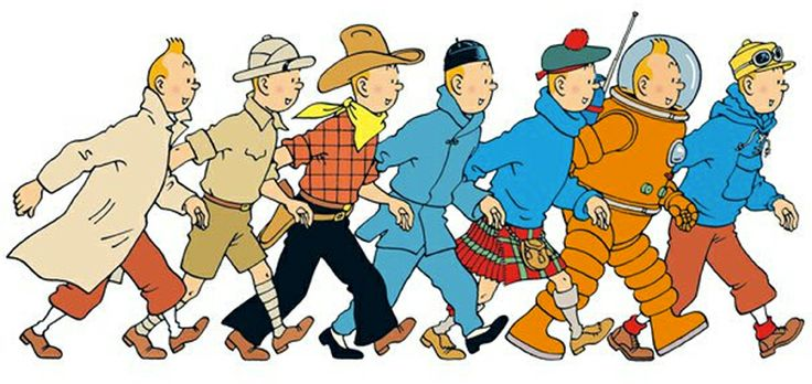 Tintin dalam berbagai kostum