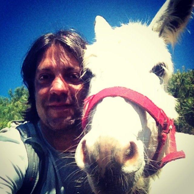 Io e Martino #selfie #asino
