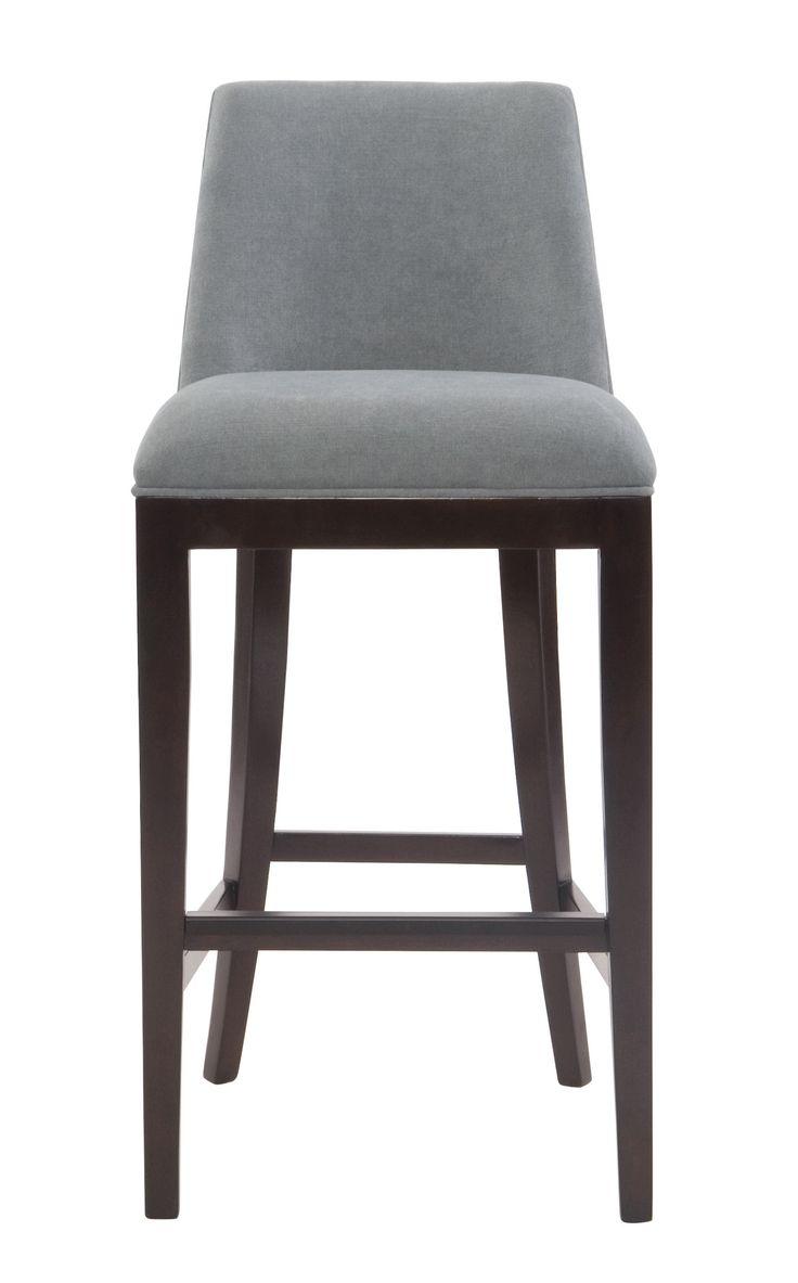 Cheyenne home furnishings bar stool - Furniture Grey Cotton Barstool For Minimalist Bar Decor