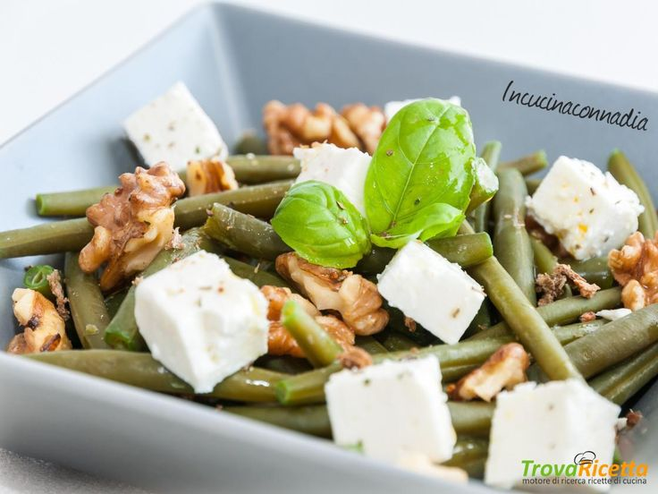 Insalata con fagiolini, feta e noci  #ricette #food #recipes
