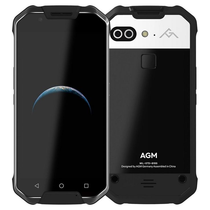 "OFFICIAL NEW RELEASE AGM X2 4G Smartphone Android7.0 IP68 Waterproof 5.5"" Octa Core 6000mAh Support VOC Sensor NFC GPS OTG"