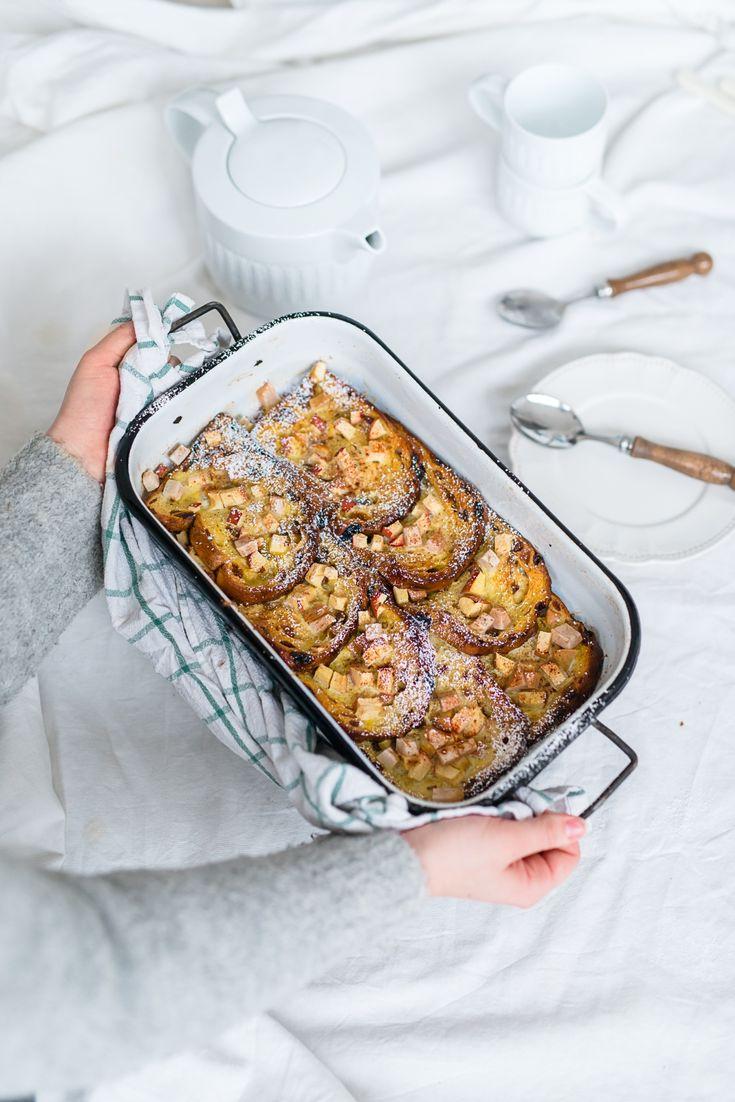 Préparez un(e) délicieux(se) pain perdu au four, aux pommes et aux poires avec cette recette et régalez vos convives. Bon appétit!