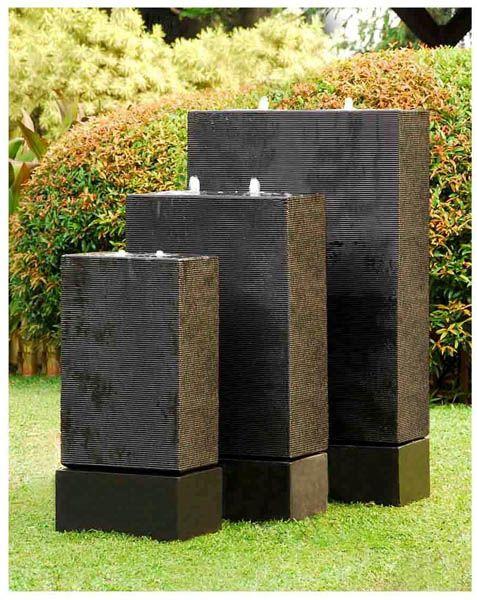 Kezu Retangle Set with self enclosed ponds in Steel Grey