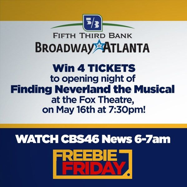 Freebie Friday, win tickets to Finding Neverland the Musical