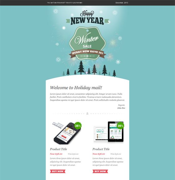13 Best More Of The Best Christmas/Holiday Email Templates Images