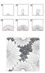 zentangle patterns tutorial - this is your kinda art  ZentanglesZentangle Patterns Tutorial