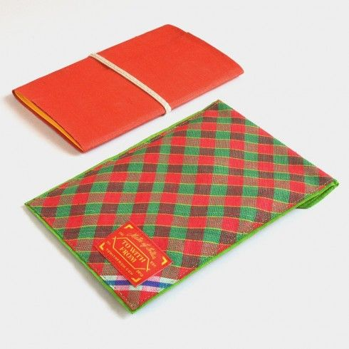 Buy Red & Green Banaras Pouch Notebook at Tadpole Store