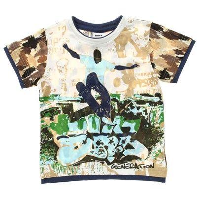 White/Cream Skate T-Shirt-C1643-White $14.00 on Ozsale.com.au