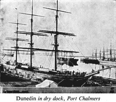 Dunedin in dry dock, Port Chalmers