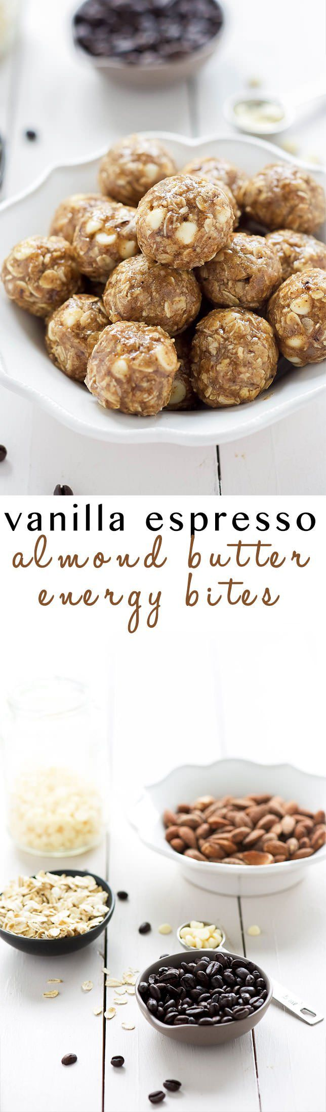 These Vanilla Espresso Almond Butter Energy Bites come in handy when you need…