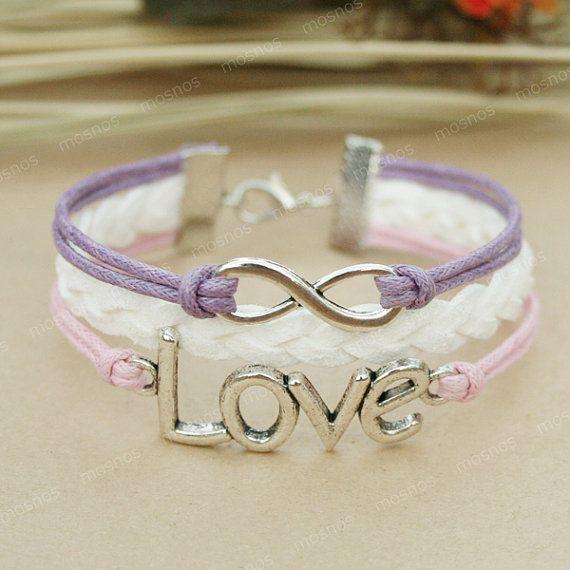 Infinity bracelet - love bracelet with infinity symbol for girls and BFF on Etsy, kr42,67