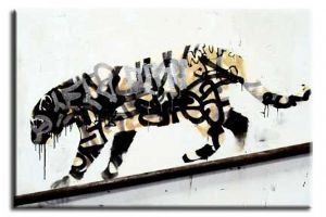 Banksy Leopard canvas