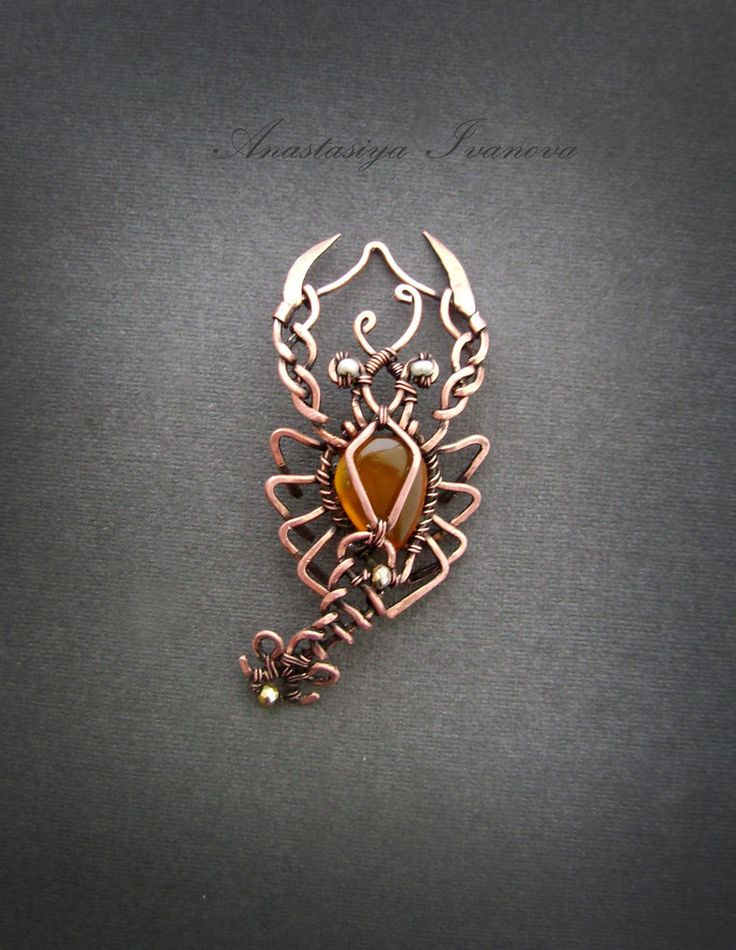 handmade: necklaces , pendants technique: wire-wrapping materials: copper, pearl, size: 6,5*7 cm