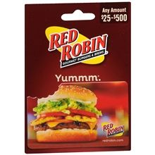 Red Robin Gift Card. For Cathy.