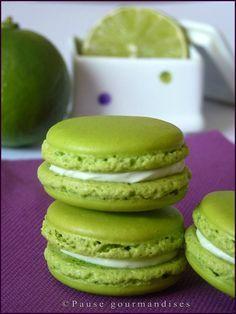 Macarons ganache montée citron vert