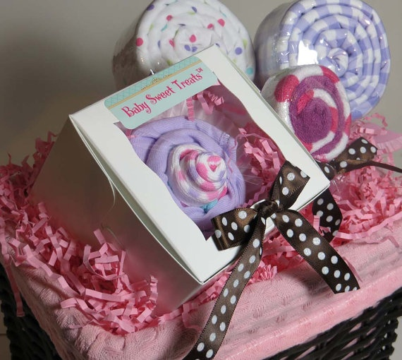 NEW  Sweet Lollipops and Cupcake Gift Basket  8 by BabySweetTreats, $40.00