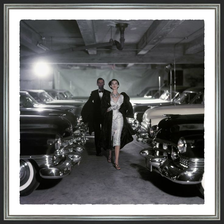 Conde Nast Glamour Magazine 'Couple and Parking Garage' Photographic Print