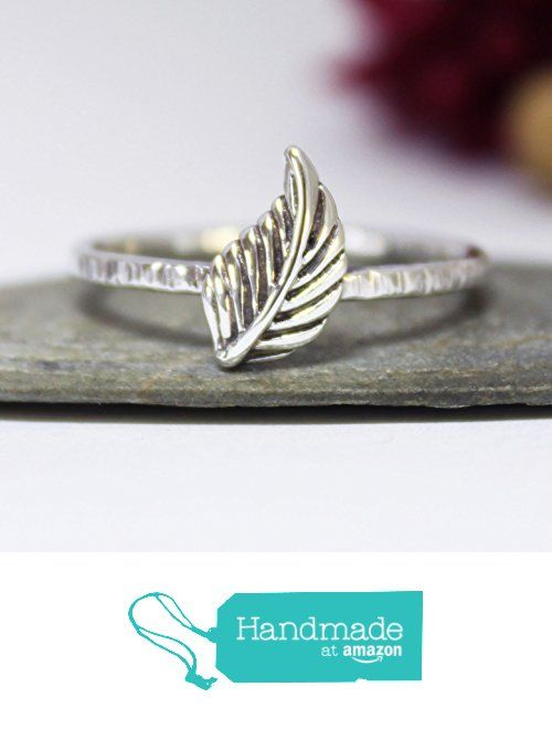 Leaf Stacking Ring, Statement Ring, Silver Band Ring, Silver Stacking Ring, Cute Leaf Ring, Statement Ring, Simple Leaf Ring, Rustic Oxidized Silver Stacking Ring, Stackable Ring, Hammered Ring from rosajuri https://www.amazon.com/dp/B072K2M3W3/ref=hnd_sw_r_pi_dp_iHzwzbCD3ZJR0 #handmadeatamazon