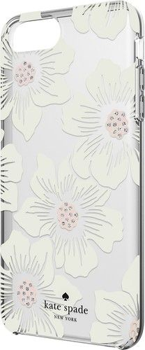 kate spade new york - Protective Hardshell Case for Apple® iPhone® 7 Plus - Cream with stones/Hollyhock floral clear