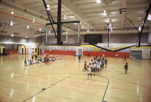 Indoor Basketball Gym Community Gymnasium At Cerritos