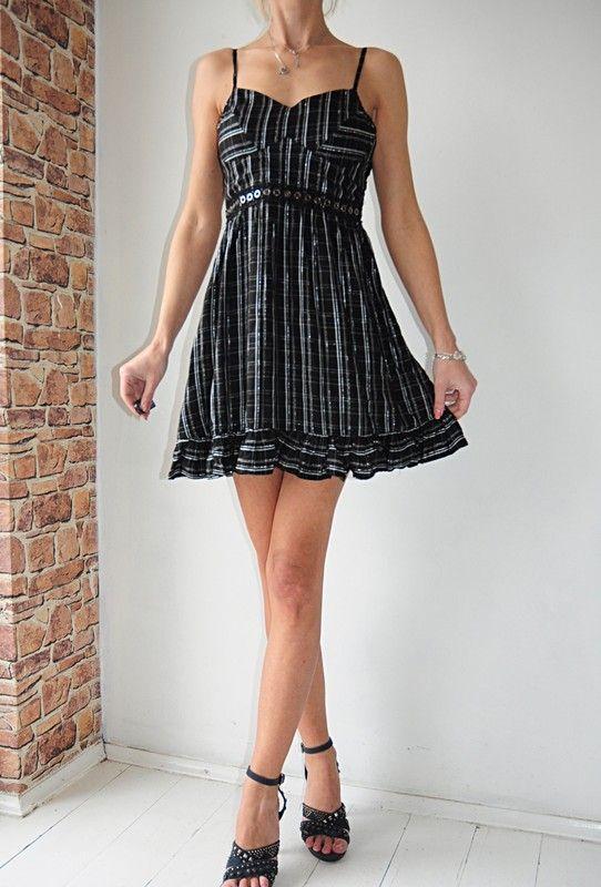 d378cea7a0 sukienka Primark czarna kratka METKA r.34 - Vinted