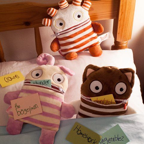 What a great idea to show your children how to get rid of their fears at an early age! Sorgenfresser Worry Eaters  from Firebox.com