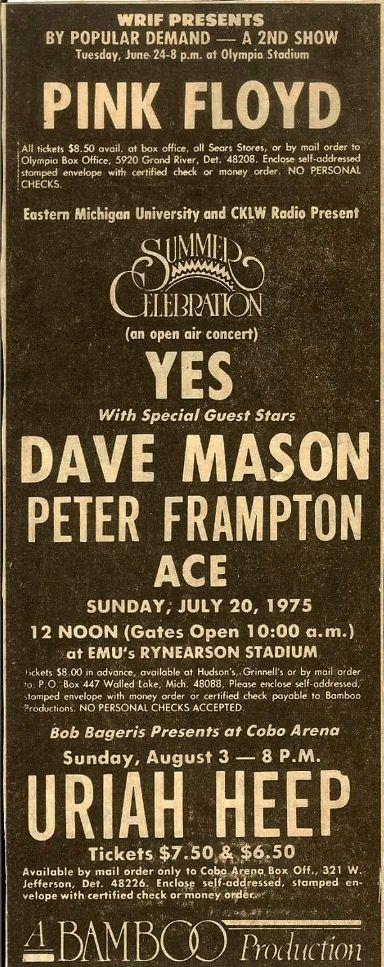 Detroit Olympia Stadium, 23 & 24 September 1975