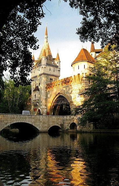 Vajdahunyad Castle in the City Park of Budapest, Hungary | by PhotoScenics