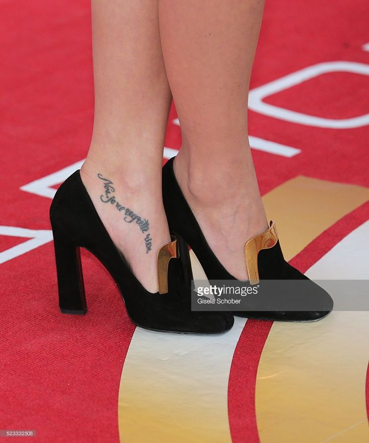 Singer Lena Meyer-Landrut, tattoo detail, during the Radio Regenbogen Award 2016 at Europapark Rust on April 22, 2016 in Rust, Germany.