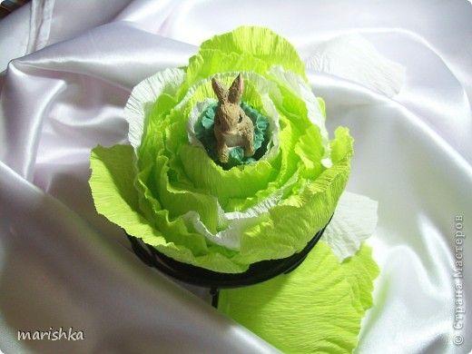 Свит-дизайн Бумагопластика:  Капуста для зайки Бумага гофрированная Пасха. Фото 1