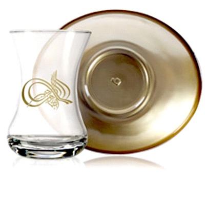 Tuğralı 12 Parça Çay Seti  Artcraft  Tuğra çay takımı ,fincanın ağzındaki altın tuğra deseni ve altın boyamalı tabağı ile şık ve kullanışlı bir ev hediyesidir  çay takımları, çay bardakları, çay bardağı, cup of tea, çay tabağı, çay tabakları, çay seti